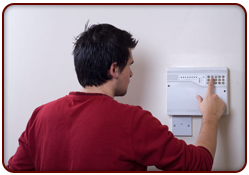 Alarm Systems - Solihull, West Midlands - Aces Security & Electrical - testing the system